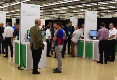 Schneider Electric trade show booth